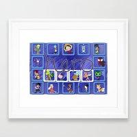 fandom Framed Art Prints featuring Define Fandom 2 aka TheRug by Wayko World