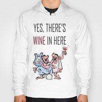 wine Hoodies featuring Wine by Artysmedia