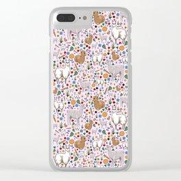 Pretty Llamas Clear iPhone Case