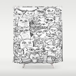 Crazy Cats Shower Curtain