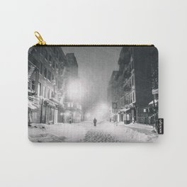 Alone in a Blizzard - New York City Carry-All Pouch