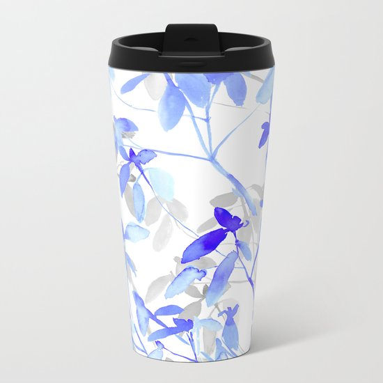 Premonition (Blue Grey) Metal Travel Mug