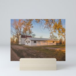 Main Street, Denhoff, North Dakota 2 Mini Art Print