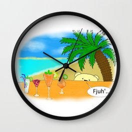 Triple Tipple Wall Clock