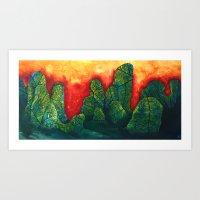 Mountain Yu Art Print