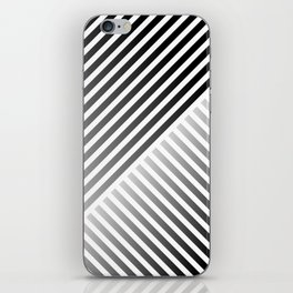 Stripes In Black & White 2 iPhone Skin