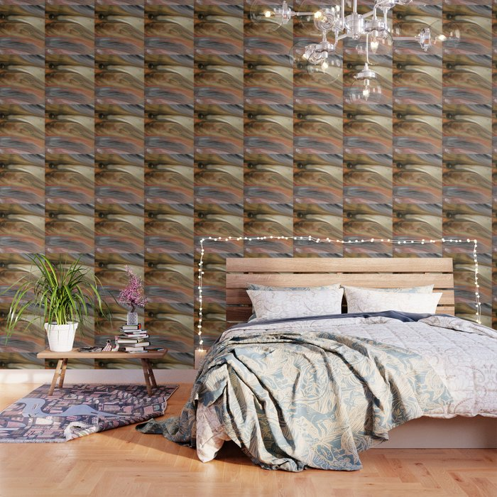 Fluid Nature - Metallic Flows - Abstract Acrylic Art Wallpaper