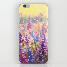 Glade of gentle flowers oil painting by Rybakow iPhone Skin