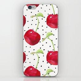 Cherry pattern II iPhone Skin