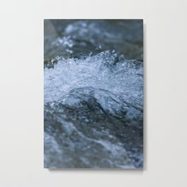 Water flowing on the river Metal Print