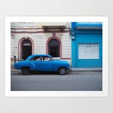 Let's drive in Havana Art Print