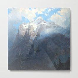 Mount Brewer from King's River Canyon, California Metal Print