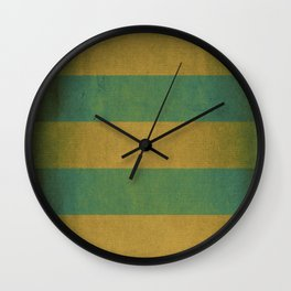 Vintage striped deck chair cover Wall Clock