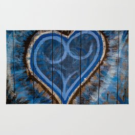 Blue is the color of love Rug