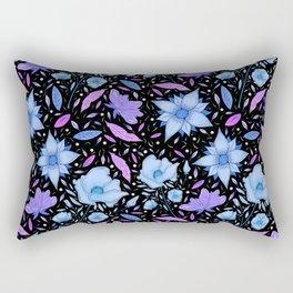 Forest flower blue Rectangular Pillow