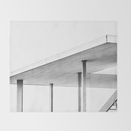 Architectural Study in White Throw Blanket