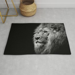 Lion Black and white Rug