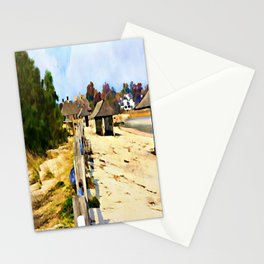 A Stroll Along The Beach Stationery Cards