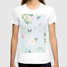 Floral stripes T-shirt