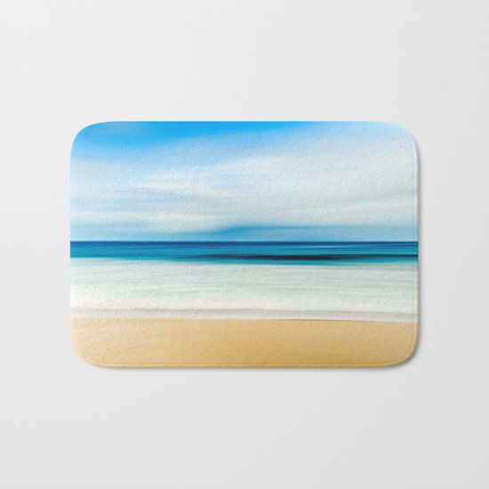 Blurred Beach Bath Mat