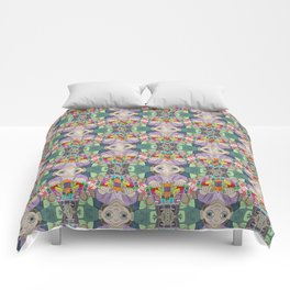 Otto the Grocer tessellation Comforters