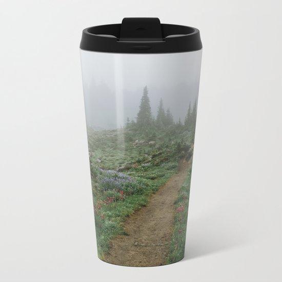 Washington Wildflower Fog Metal Travel Mug