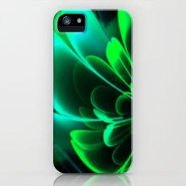 Stylized Half Flower Green iPhone Case