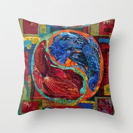 Head Over Tails Throw Pillow