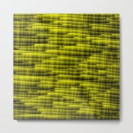 Square cross yellow lines on a dark tree. Metal Print