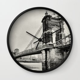 Roebling Suspension Bridge Wall Clock