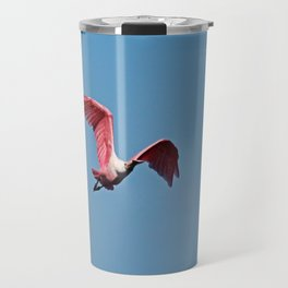 Roseate Spoonbill in Flight VI Travel Mug