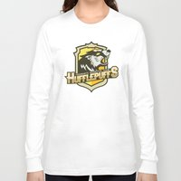 quidditch Long Sleeve T-shirts featuring Hogwarts Quidditch Teams - Hufflepuff by Deadround