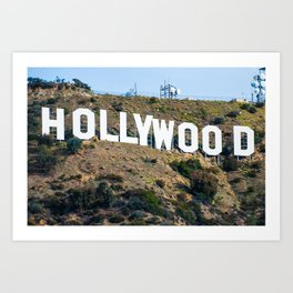 The Famous Hollywood Sign in Hollywood California Art Print