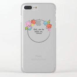 Floral - Killin Em Clear iPhone Case