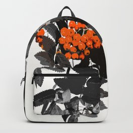 Red Rowan Berries In Black And White Background #decor #society6 Backpack