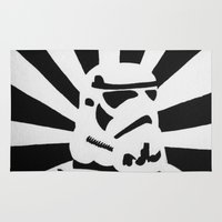 stormtrooper Area & Throw Rugs featuring StormTrooper by Shelly Lukas Art