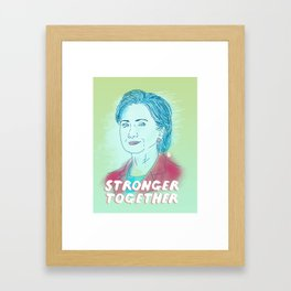 I'm with Her Framed Art Print