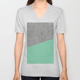 Concrete and Sea Color Unisex V-Neck