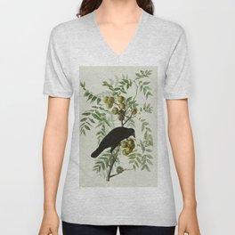 Vintage Crow Illustration Unisex V-Neck