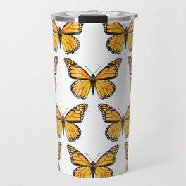 Watercolor Monarch Butterflies Travel Mug