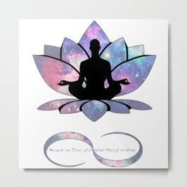 Free your Soul to Infinity Metal Print