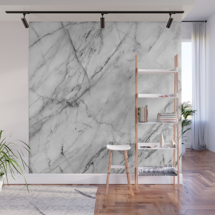 Carrara marble Wall Mural by patternmaker | Society6