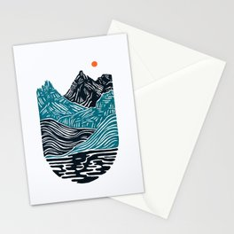 ABSTRACTED LANDSCAPE Stationery Cards
