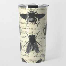 Insect Study on antique journal paper Travel Mug