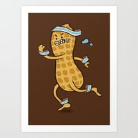 health Art Prints featuring Health Nut by Jelly Soup Studios