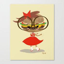 Burger Cutie Time Canvas Print