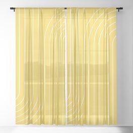 Minimal Line Curvature XIV Sheer Curtain