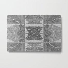 BW pixalated Metal Print