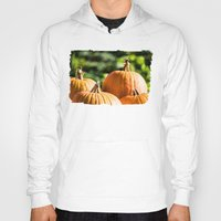 vegetable Hoodies featuring  autumn vegetable by Karl-Heinz Lüpke