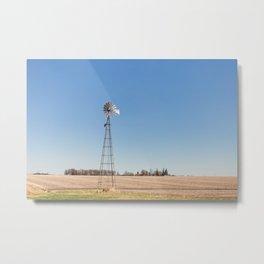 Windmill and Blue Skies Metal Print